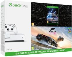 Xbox One S 500 GB + Forza Horizon 3 + Hot Wheels + Star Wars: Battlefront II