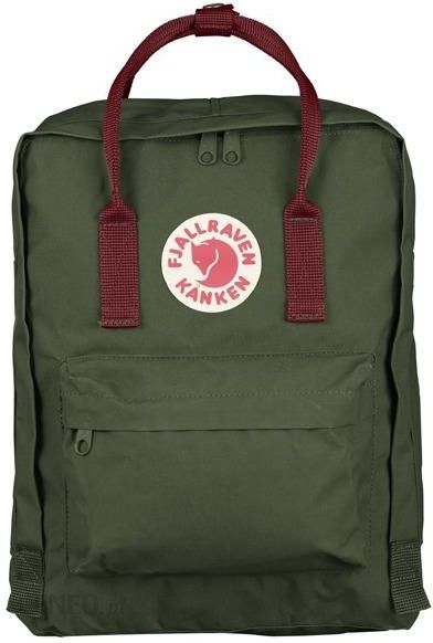 dobrze out x style mody kupuj bestsellery Fjallraven Kanken Classic Forest Green-Ox Red 660-326 Zielono-Bordowy