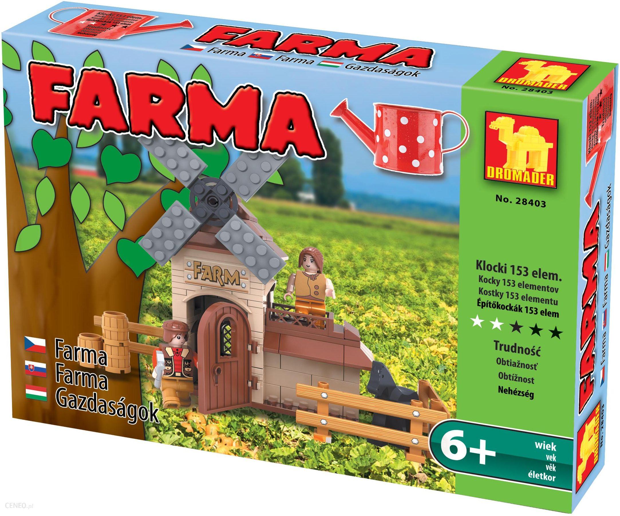 Klocki Dromader Klocki Farma Młyn Wiatrak Warsztat153ele Ceny I