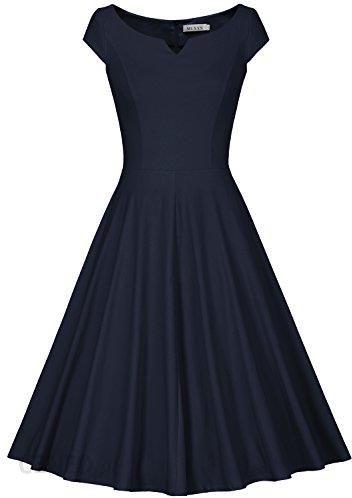 41e233d934 Amazon Damski Retro Sukienka Kolor Granatowy Ceny I Opinie