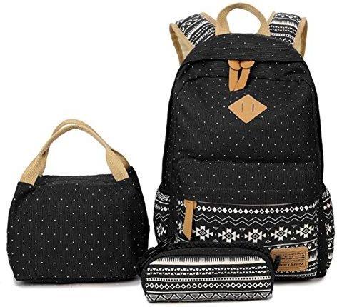 8704a5f18dda4 Amazon Plecak szkolny zestaw Canvas Plecak dziewcząt plecak rekreacyjny  plecaki dzienne damskie