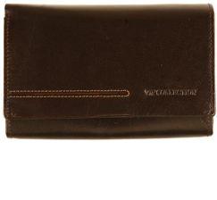 2dc02d9c29e4d Portfel damski skórzany brązowy Vip Collection