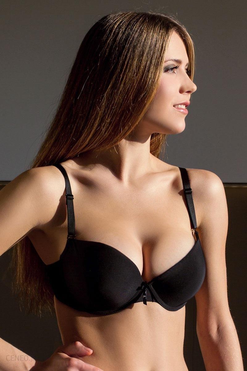 a4b63d9a0cd2d3 Hanna Style Biustonosz Hanna_163 - double push up czarny 65/B - zdjęcie 1