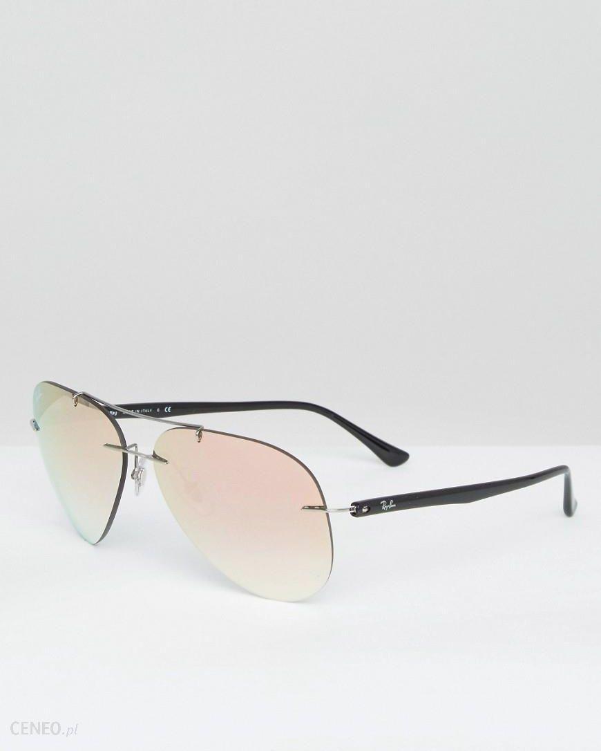 496f89ba85cc Ray-Ban Rimless Aviator Sunglasses in Rose Gold - Gold - zdjęcie 1