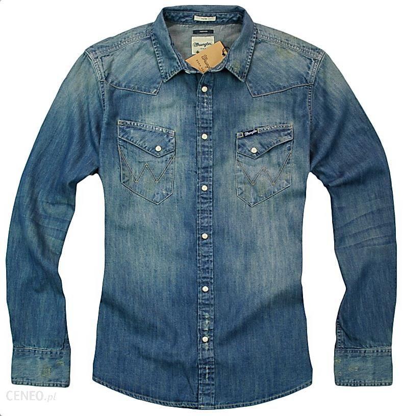d4390137e9f459 Wrangler Western Slimfit Koszula Jeans Vintage XXL - Ceny i opinie ...