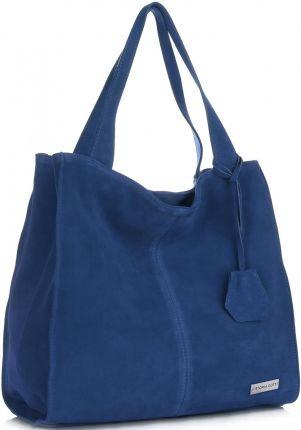 ae2241b0284ab Vittoria Gotti Uniwersalne Torebki Skórzane Na co dzień ShopperBag XL  Niebieska - Jeans (kolory) ...