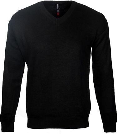 aa609f529e89a Sweter Męski Klasyczny w Serek SW1 Czarny