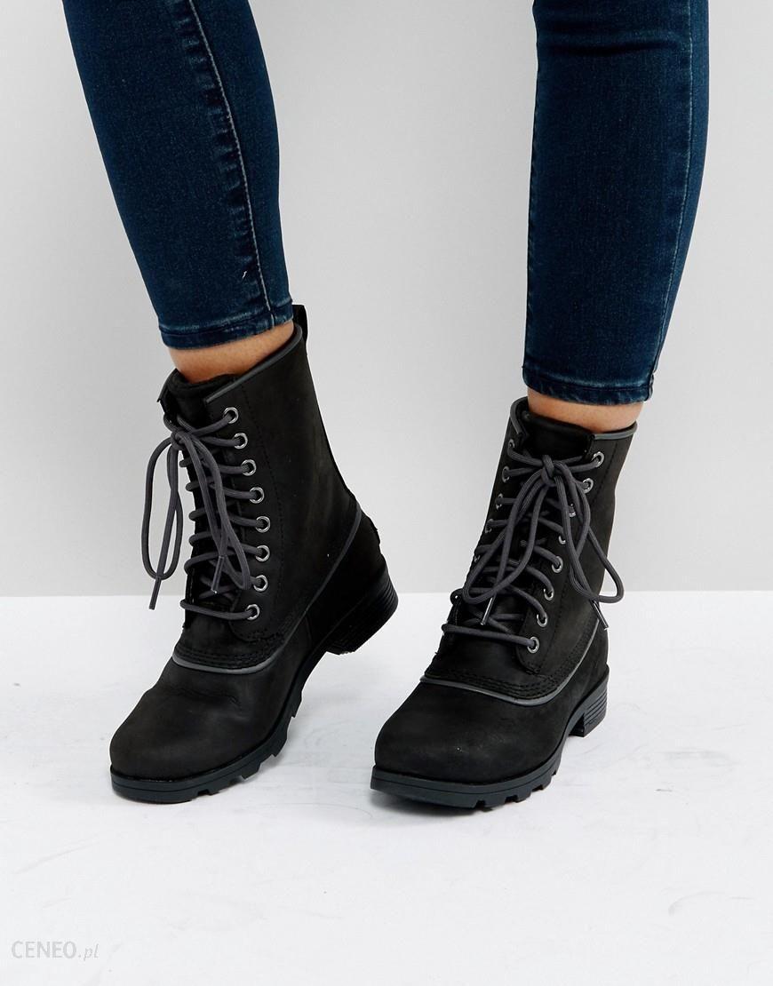 Sorel Emelie 1964 Black Waterproof Leather Boots Black Ceneo.pl