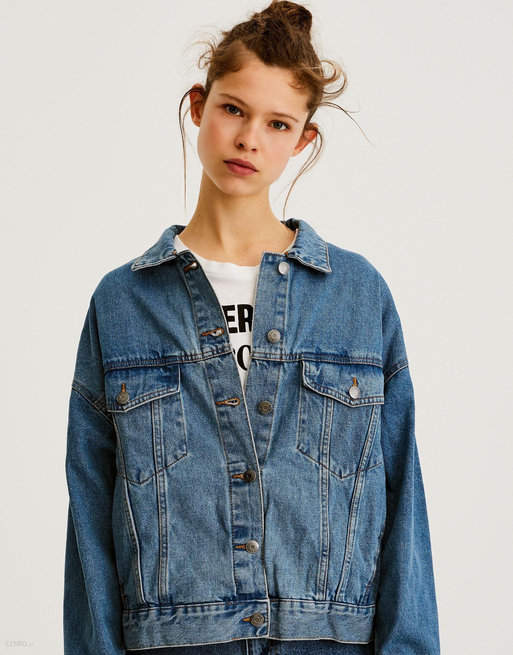 ad4900a769dff Luźna jeansowa kurtka z opadającymi ramionami - Ceny i opinie - Ceneo.pl