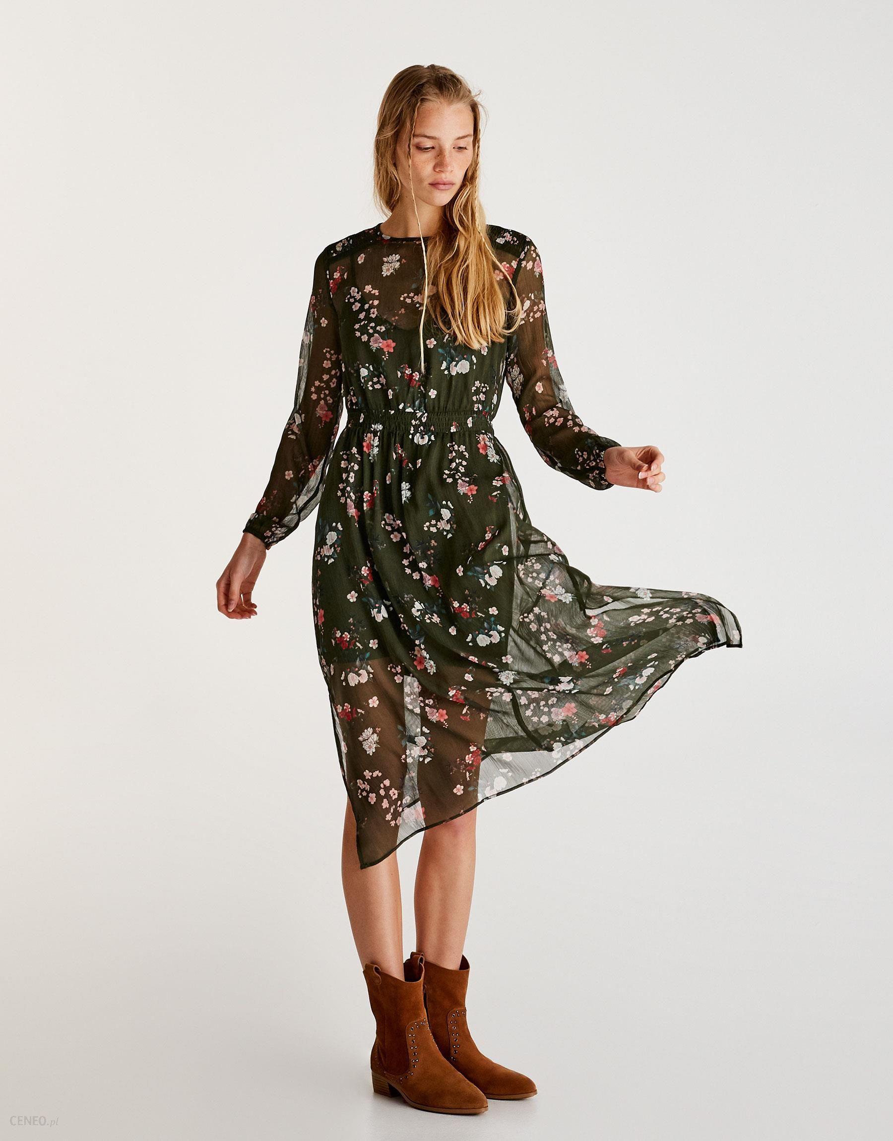 1a901903b5 Sukienka w kwiaty z długim rękawem - Ceny i opinie - Ceneo.pl