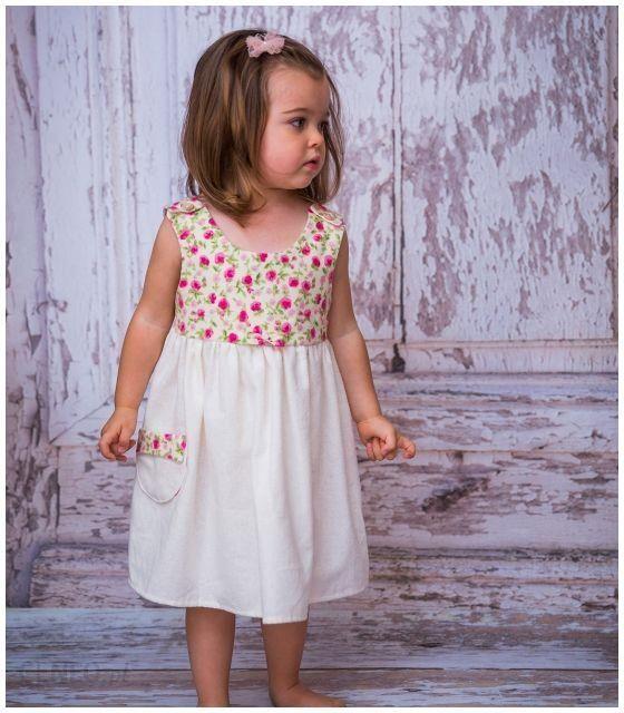 a6523120 Sukienka w różowe Kwiaty dla dziewczynki 1-2 L (80-92 cm)