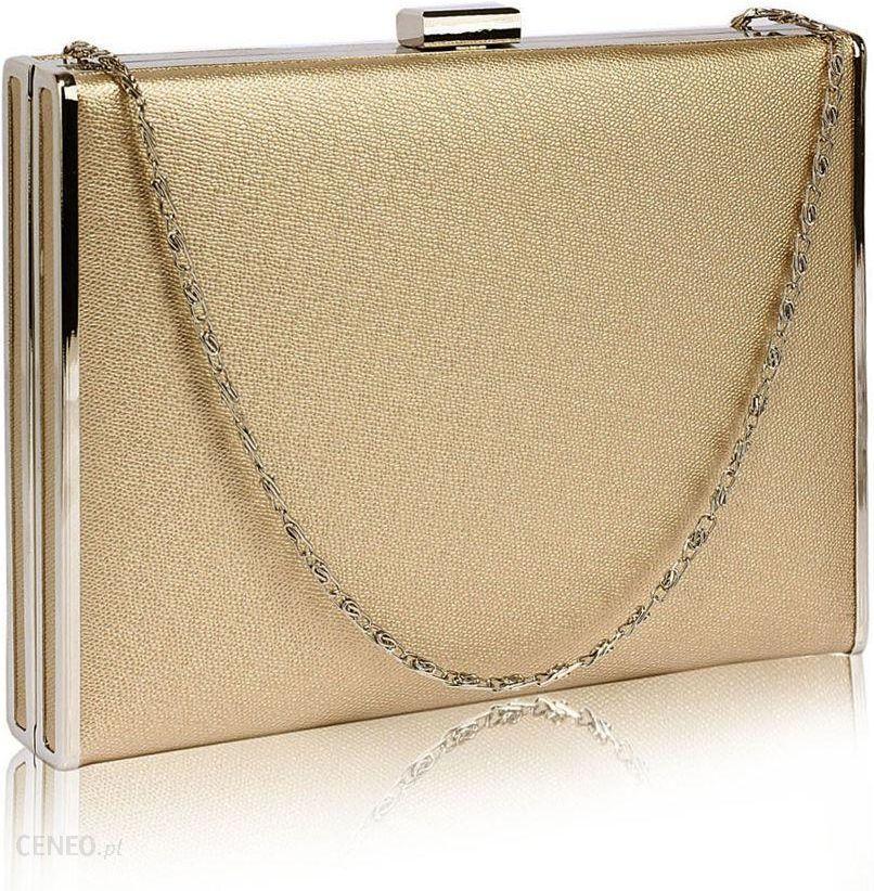 3d4e93c4b18bc Elegancka gładka torebka wizytowa kopertówka złota - złoty - Ceny i ...