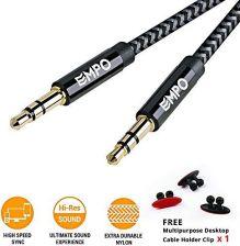 Amazon Przewód AUX 3.5 MM JACK – Nylon pleciona kabel audio (1 m 3.3 ede29c52712