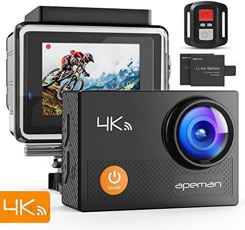 Cam 4 U >> Amazon Apeman Action Cam 4 K Wifi Camera Ultra Kamera Full Hd Pod Woda Kask Kamera Wodoszczelna I 2 4 G Pilot Zdalnego Sterowania 2 Z Zaawansowanymi A