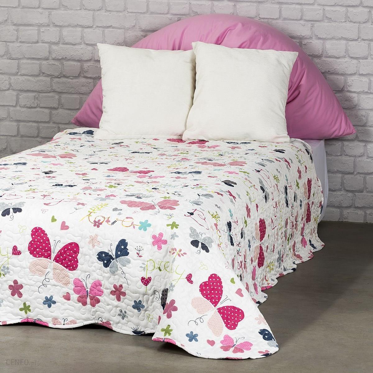 4home Narzuta Na łóżko Dla Dzieci Butterfly 140x200 Cm Ceny I