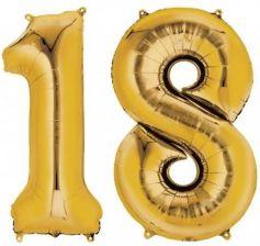 Balon foliowy liczba 18 złota 86cm - Ceny i opinie - Ceneo.pl 39482470f0376