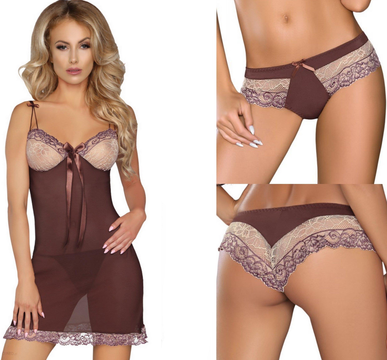 59fa2b6063822d Sexy Bielizna Komplet Koszulka+Stringi+Figi! L/XL - Ceny i opinie ...