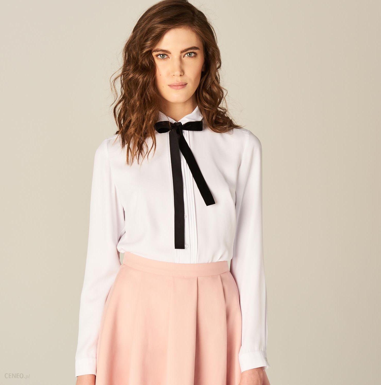 517a81f76 Mohito - Koszula z ozdobnym wiązaniem przy dekolcie - Biały - Ceny i ...