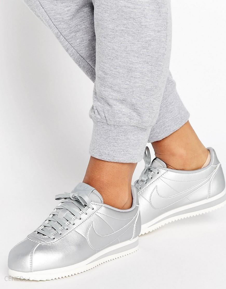 best service a7ca3 459e5 Nike Cortez Trainers In Silver Metallic - Silver - Ceneo.pl