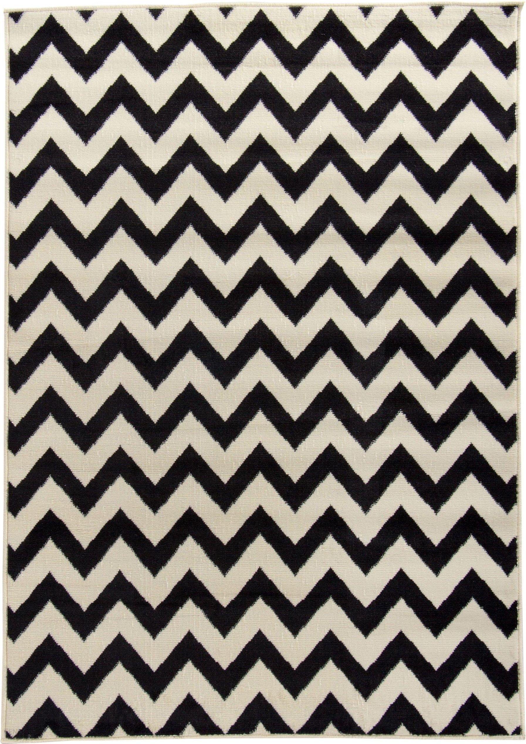 Dywan biało czarny turecki 180x250 jodełka design zdjęcie 1
