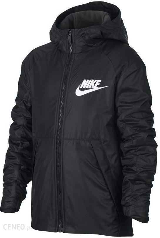 Nike Kurtka chłopięca Sportswear Lined Fleece Junior czarna r. S (856195 010) Ceny i opinie Ceneo.pl