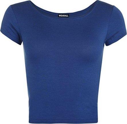 42b8499656 Amazon wearall – nowa damska koszulka z krótkim rękawem Crop Top okrągłe  wycięcie pod szyją elastyczna