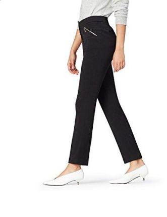 0485a1cd3d35 Amazon FIND Damen Schmale Anzughose Schwarz (Black), 36 (Herstellergröße   ...
