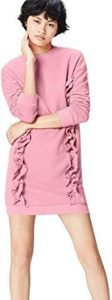 Amazon FIND Damen Sweatshirt Ruffle Trim Oversized Rosa (Old Rose), 34 (Herstellergröße: X-Small)
