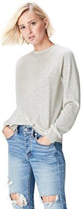 Amazon FIND Damen Sweatshirt aus Velours Grau (Light Grey Marl), 44 (Herstellergröße: XX-Large)