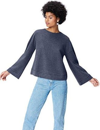 Amazon FIND Damen Soft-Touch Sweatshirt Blau (Maritime Blue), 44 (Herstellergröße: XX-Large)