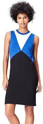 d888d60862 Amazon FIND Damen Kleid Colour Block Tunic Blau (Black Dazzling Blue)