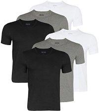 a555c7b93471a Amazon Hugo Boss męski T-shirty Business koszulki Crew Neck 50325388 6er  Pack, kolor: wielokolorowa, rozmiar: xx-large