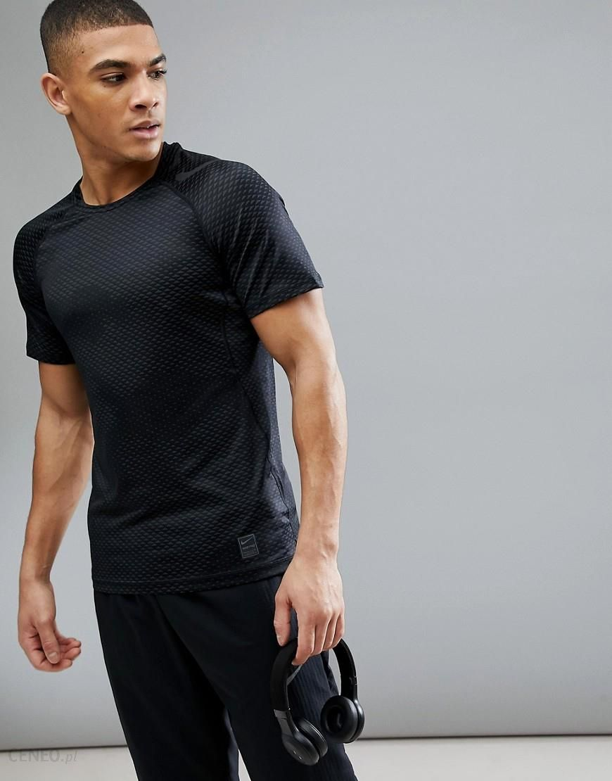 e05209471 Nike Training Hypercool Fitted T-Shirt In Black Camo 888291-010 - Black -