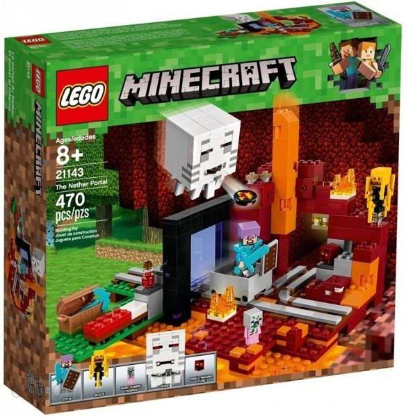 Klocki Lego Minecraft Portal Netheru 21143 Ceny I Opinie Ceneopl