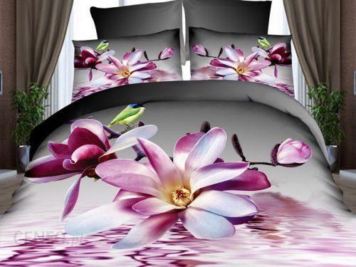 Pościel 3d Fioletowy Kwiat Fpw 236 08 220x200 4cz Opinie I