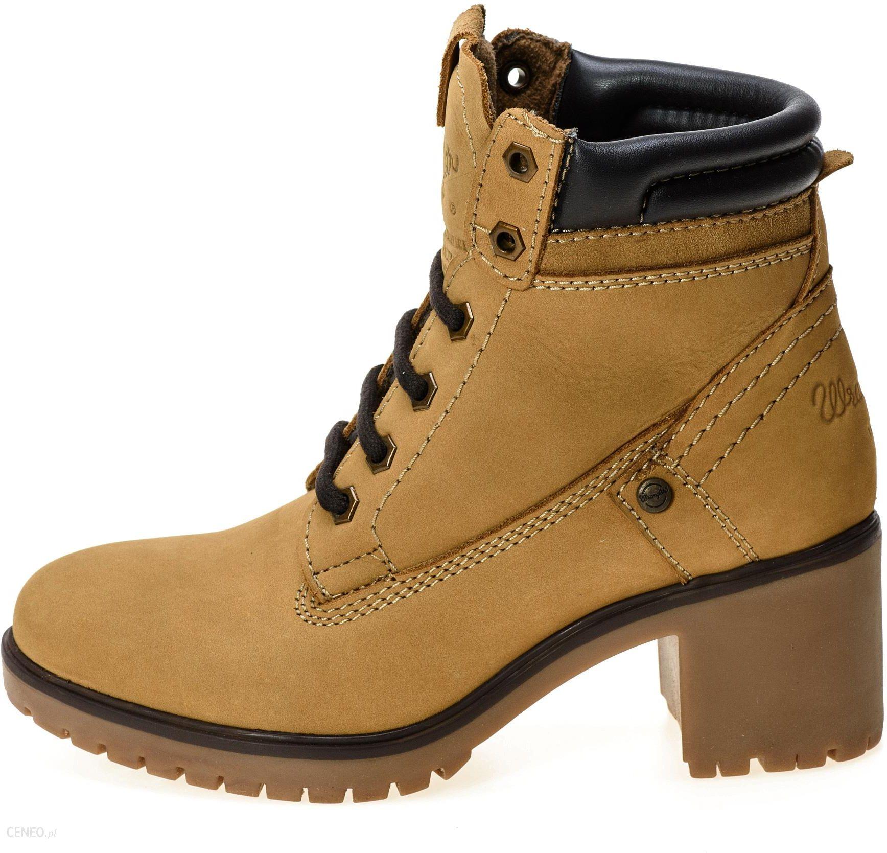 6c59b186c9cc7 Wrangler botki damskie Sierra Nubuck żółte, 37 - Ceny i opinie ...