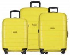 9841546d7bf53 Komplet MADAGASKAR walizki PUCCINI walizka duża + średnia + mała/ kabinowa  twarda zestaw z kolekcji