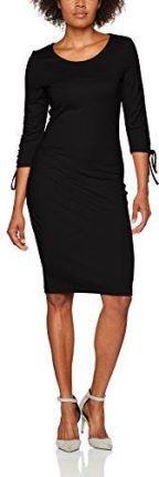 27e8d69fa3 Kartes Moda Czarna Elegancka Sukienka z Założeniem Kopertowym - Ceny ...