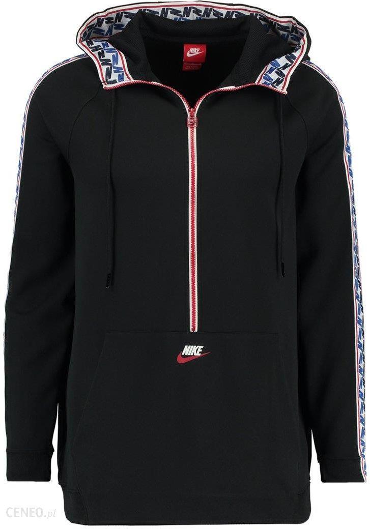 50911b3e8 Nike Sportswear TAPED HALF ZIP HOOD POLY Bluza z kapturem black/sail -  zdjęcie 1