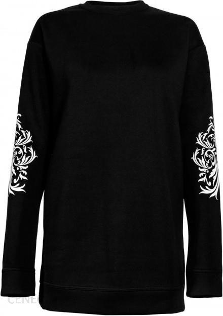 bluza czarna wzór