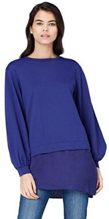 97e67baa2a38 Amazon FIND Damen Sweatshirt mit Seidensaum Blau (Blue), 38  (Herstellergröße  Medium