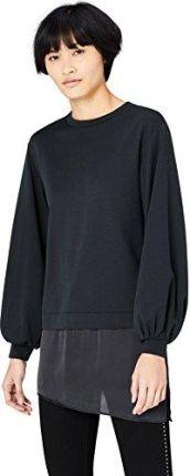 Amazon FIND Damen Sweatshirt mit Seidensaum Schwarz (Pink), 34  (Herstellergröße: X