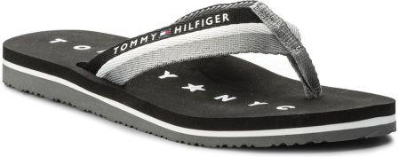 634e229907bdc Japonki TOMMY HILFIGER - Tommy Loves Ny Beach Sandal FW0FW02370 Black 990  eobuwie