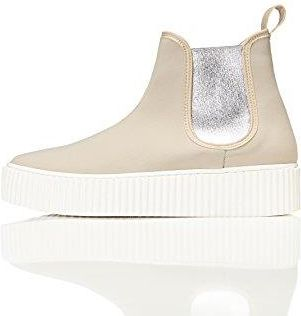 Amazon FIND Damen Plateau Sneaker, Beige (Beige), 38 EU