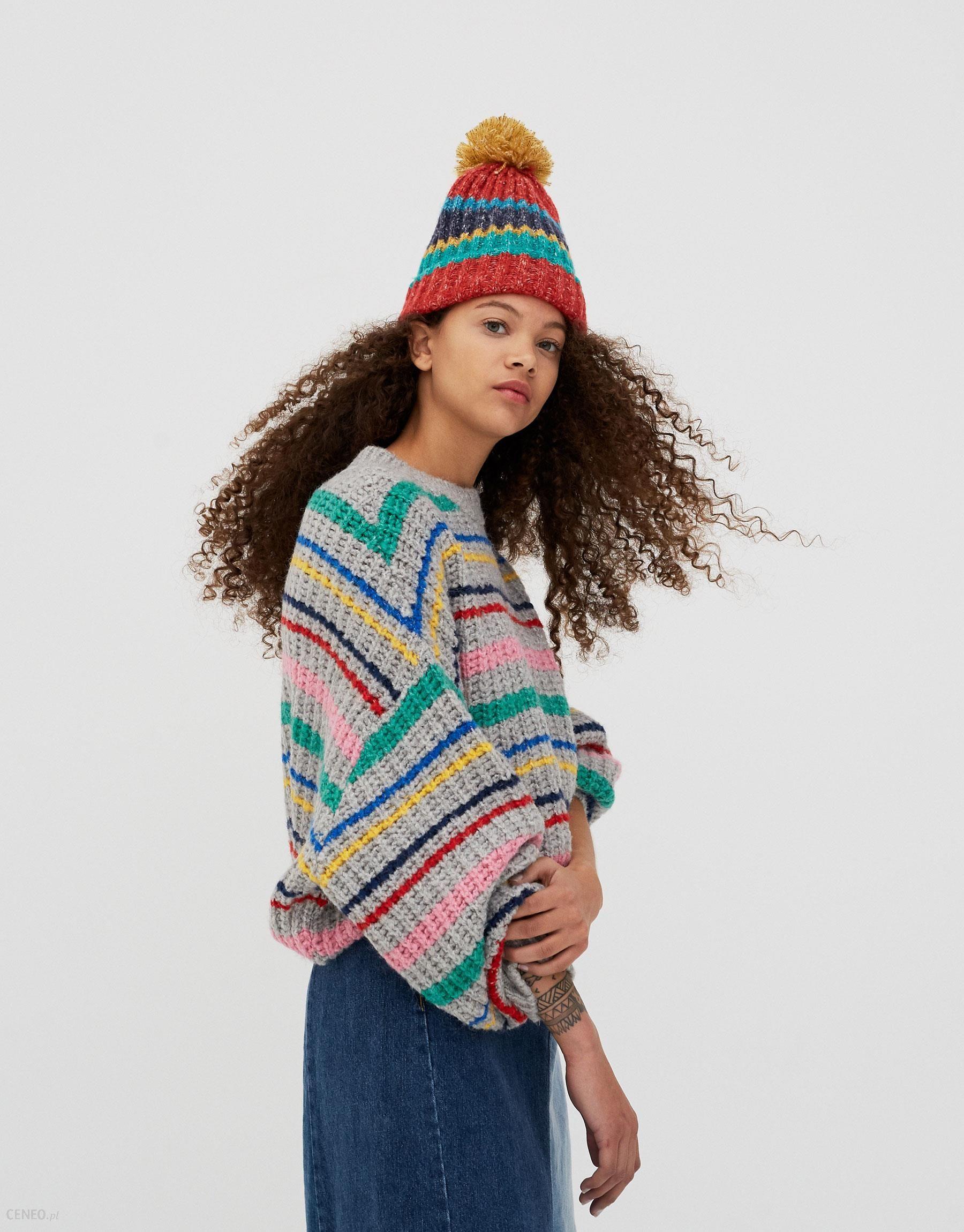 053193f652b361 Sweter w kolorowe paski - Ceny i opinie - Ceneo.pl
