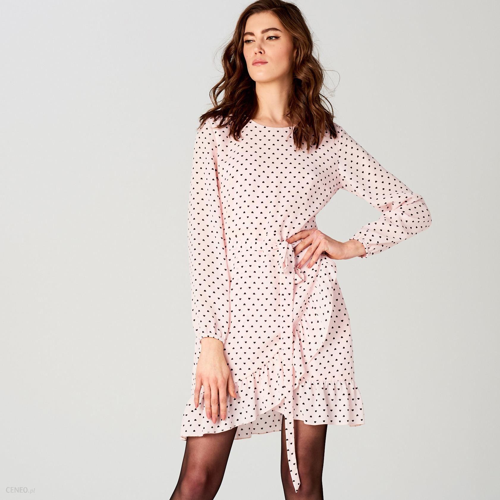 bd4ae39641 Mohito - Sukienka w kropki little princess - Różowy - Ceny i opinie ...