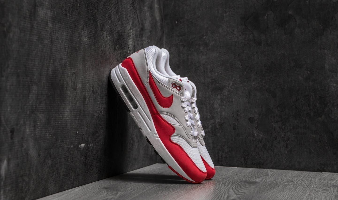 Nike Air Max 1 OG Anniversary White University Red Ceneo.pl