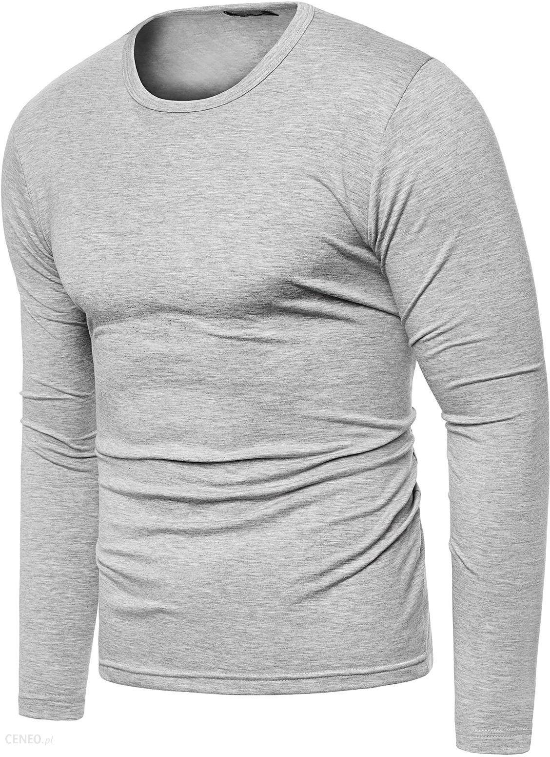 Bluza męska longsleeve N01L szara