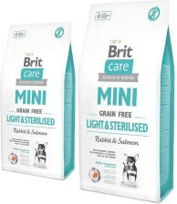 Brit Care Mini Grain Free Light Sterilised bez zbóż 2x7kg