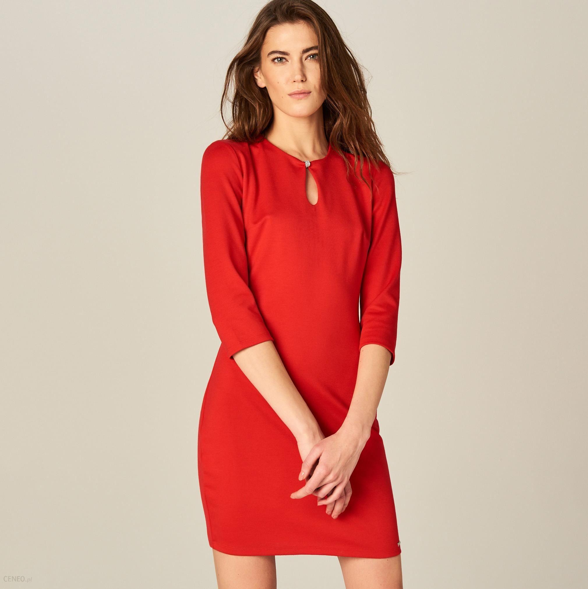 7b84d792dd Mohito - Sukienka typu pudełko - Czerwony - Ceny i opinie - Ceneo.pl
